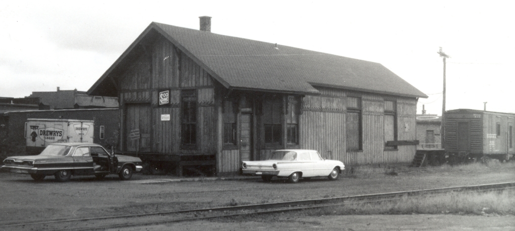 October 1968 photo of depot
